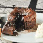 Coulant de chocolate con ganache de Grand Marnier a la naranja