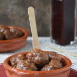 Albóndigas con salsa barbacoa