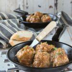 Albóndigas con salsa de cebollas