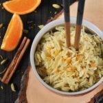Arroz pilaf aromatizado a la naranja