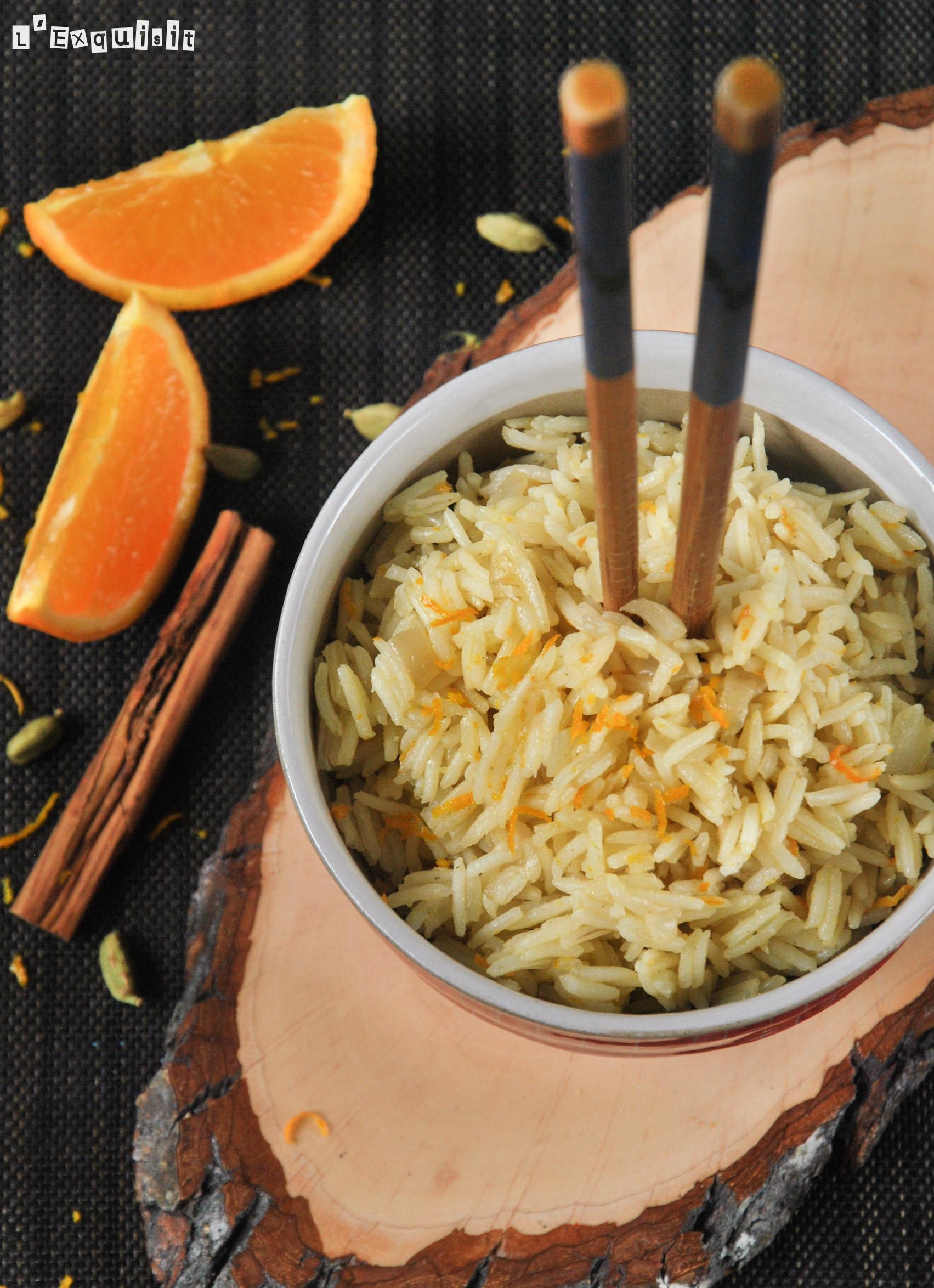 Arroz pilav aromatizado a la naranja