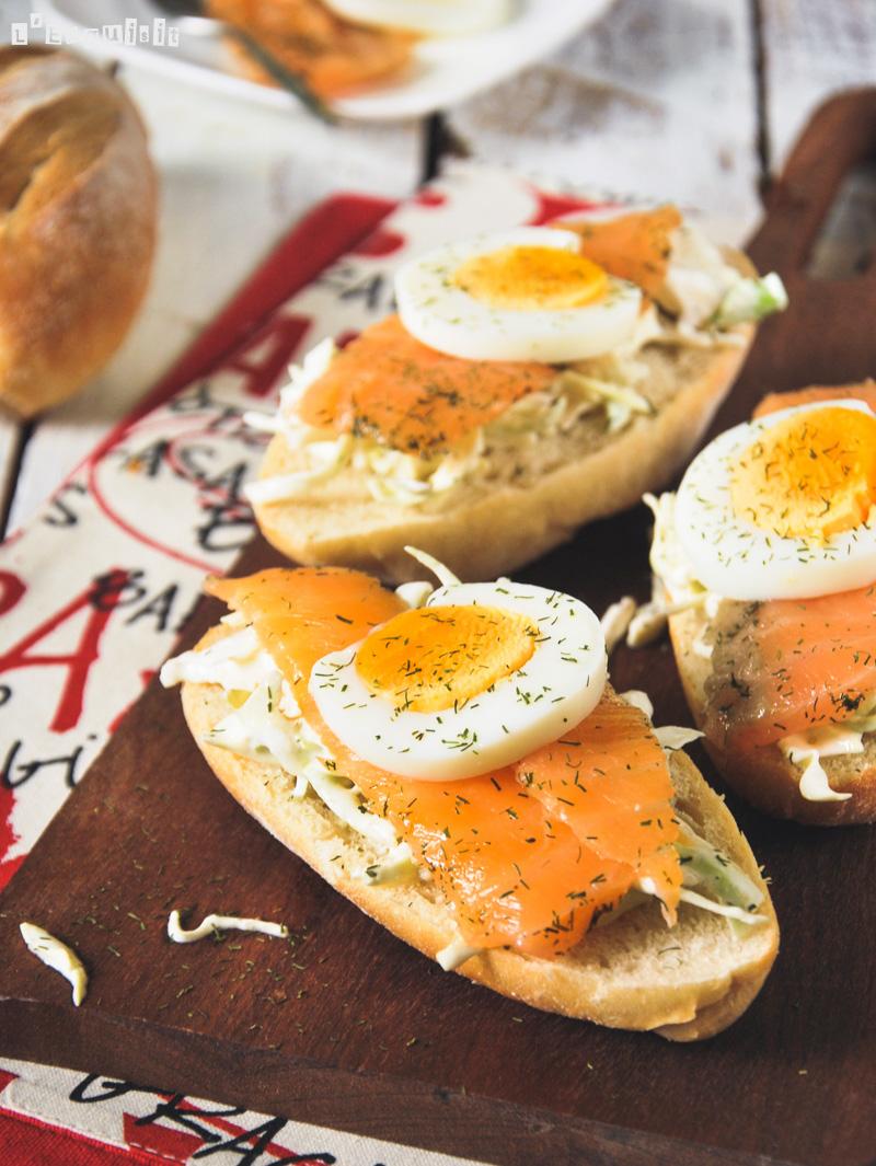 Baguette con salmón marinado-2