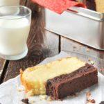 Bizcocho con brownie