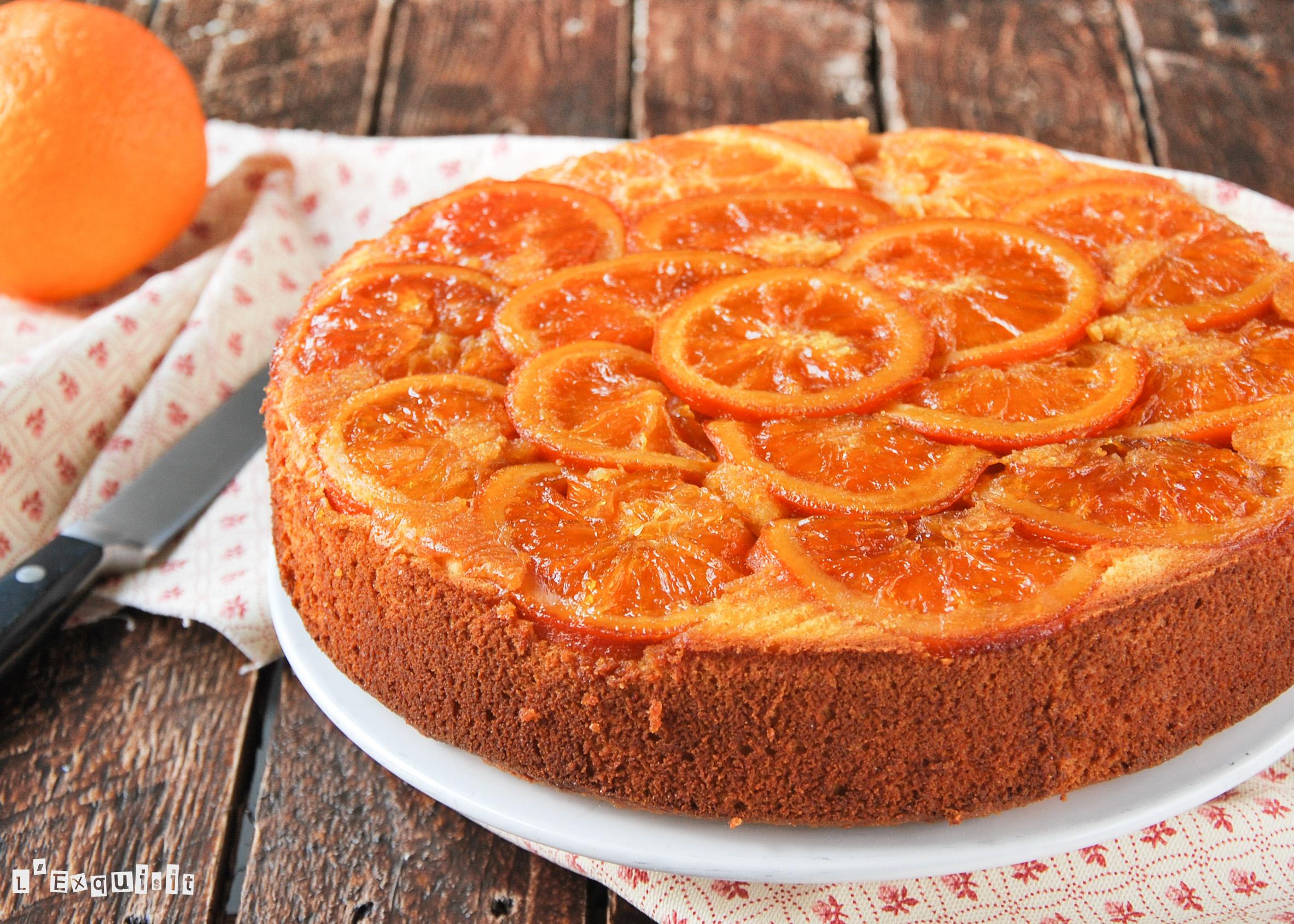 Bizcocho de almendras y naranja
