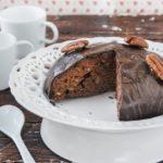 Bizcocho de chocolate y nueces {sin lactosa}