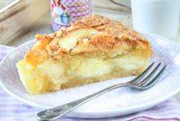 Bizcocho relleno con crema de manzana