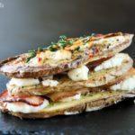 Bocadito de patata, bacon y queso