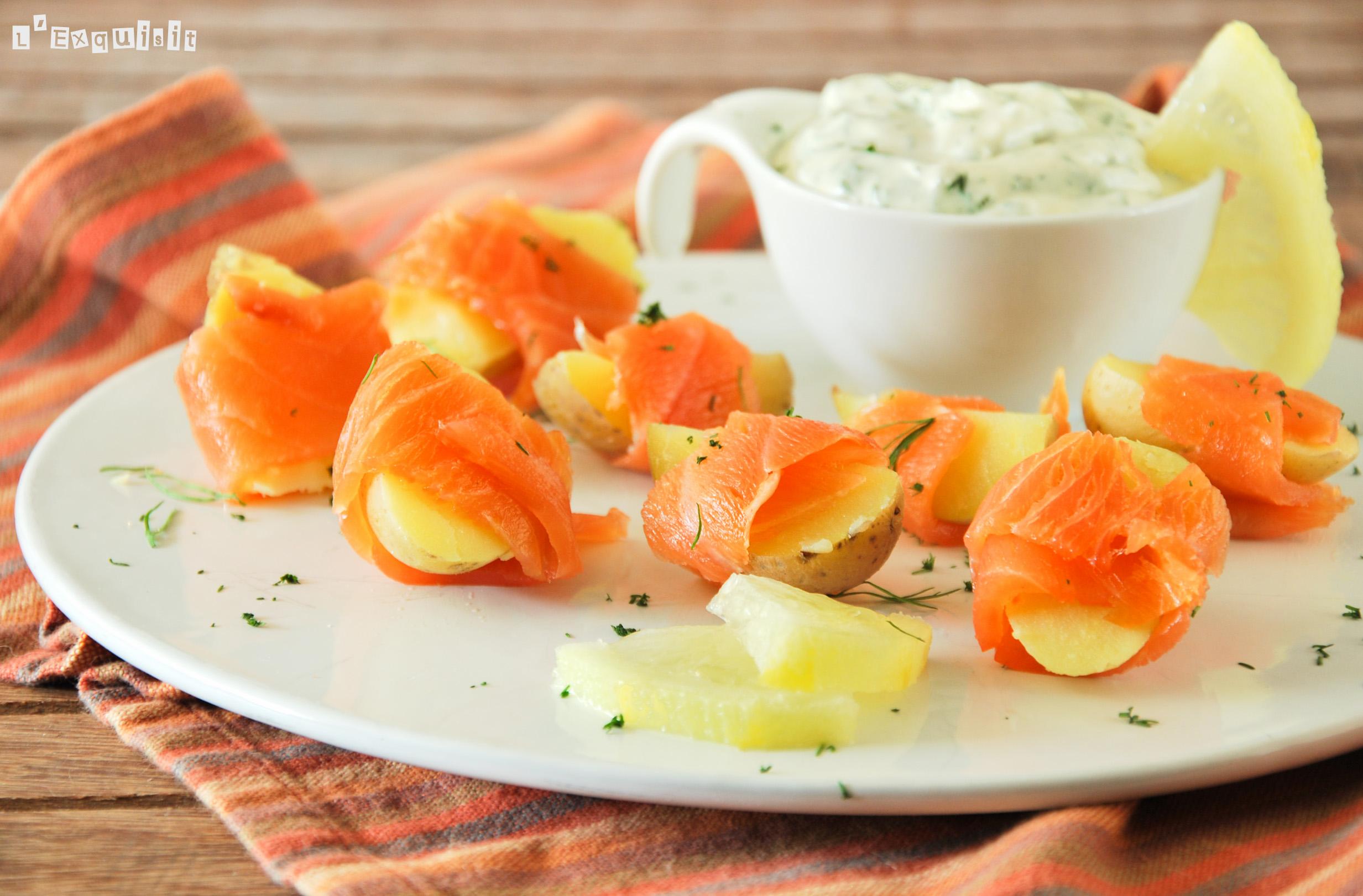 Bocaditos de patata y salmón