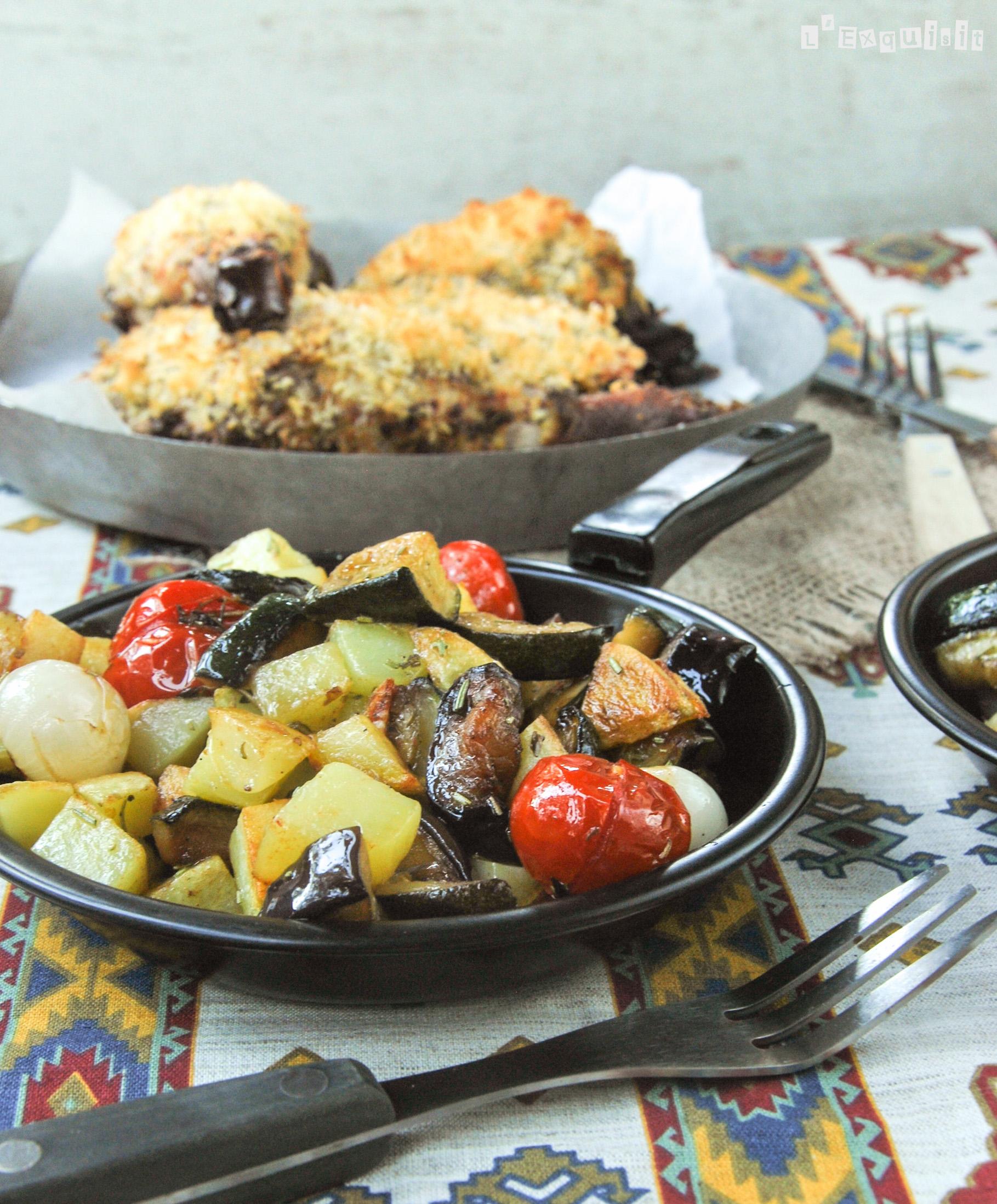 Caponata con tomates y patatas