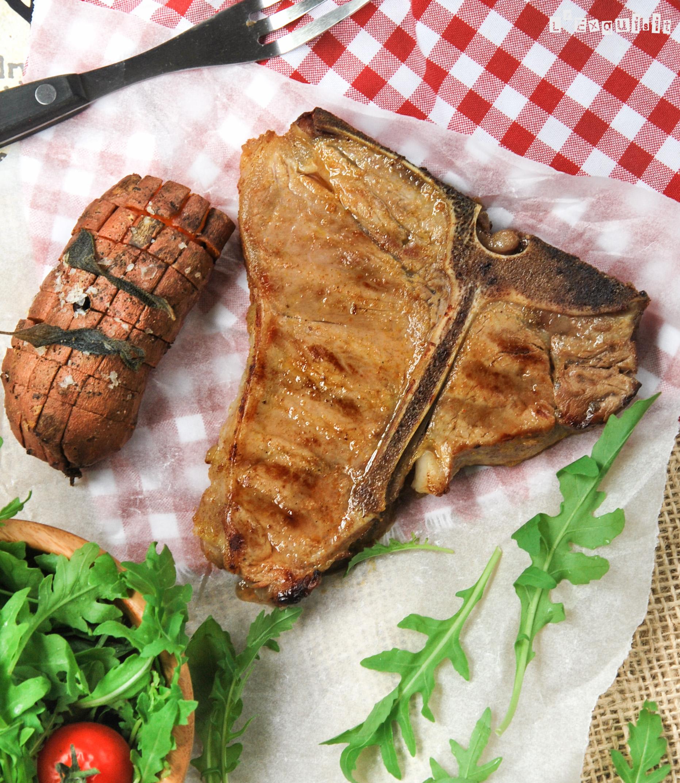 Carne marinada a la parrilla
