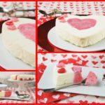 Corazón de mascarpone y fresas {idea para San Valentín}
