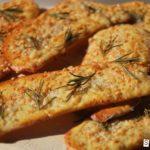 Cracker de parmesano y romero