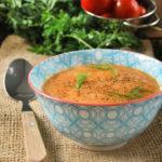 Crema de hinojo y tomates asados