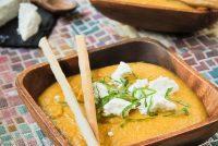 Crema de lentejas y boniatos al curry