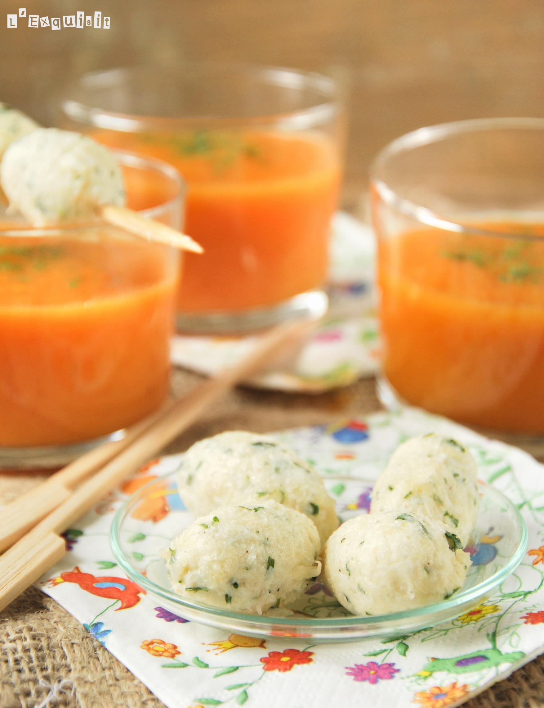 Crema de zanahoria y boniato con croquetas de brandada-2