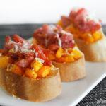 Crostini de calabaza y bacon