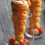Cucuruchos de fresa y mascarpone