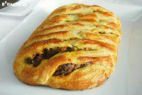 Empanada de calabaza, setas y mascarpone