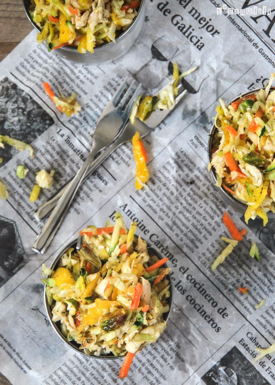 Ensalada de pollo estilo Thai