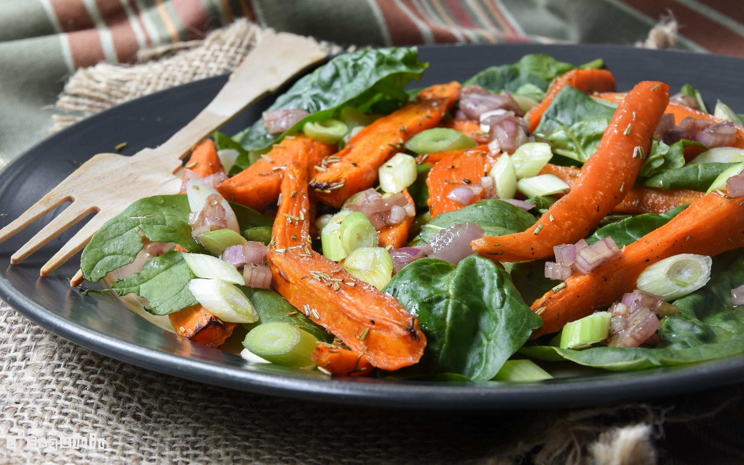 ensalada-templada-de-zanahorias-y-espinacas-3