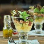 Ensalada templada de jamón de pato y manzana