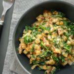 Espinacas a la crema con verduras