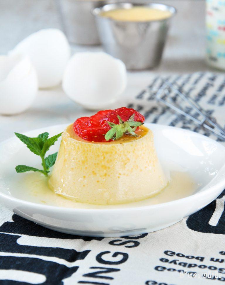 Flan de huevo {sin horno}