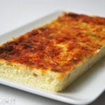Flan de Parmesano, puerros y jamón