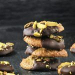 Galletas de pistachos con chocolate