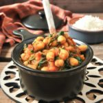 Garbanzos y espinacas al curry