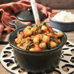 Garbanzos y espinacas al curry
