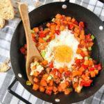 Huevo a la plancha con verduras
