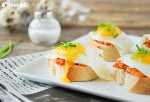 Montadito de sobrasada y huevo de codorniz-3