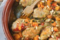 Muslitos de pollo con calabaza a las hierbas
