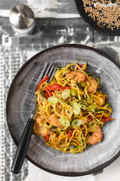 Noodles Con Gambas Al Estilo Asiatico L Exquisit