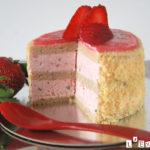 Pastelito extra de fresa y albahaca