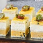 Pastelito de mango y nata