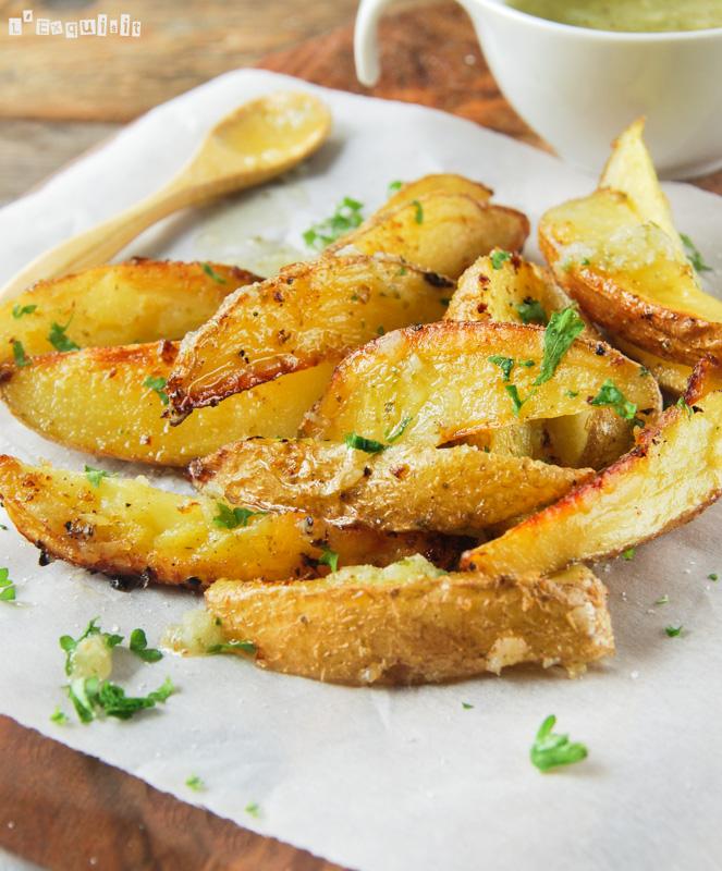 Patatas al horno con vinagreta al limón