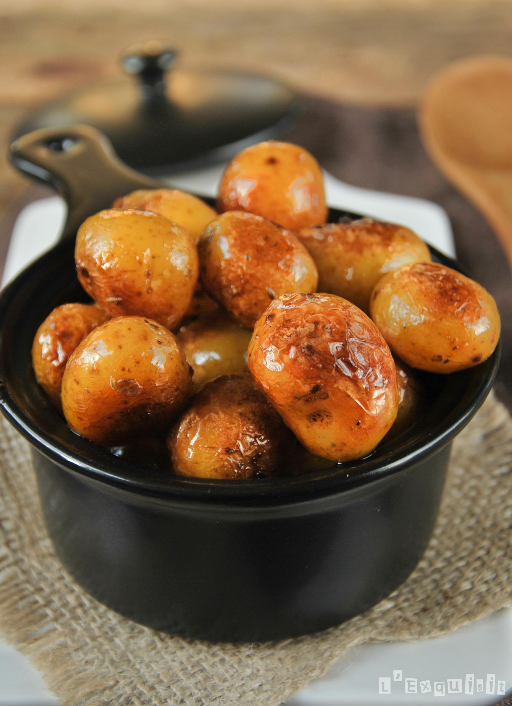 Patatas caramelizadas a la naranja