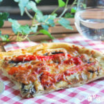 Pizza de pesto, portobello y pimientos asados {con y sin gluten}