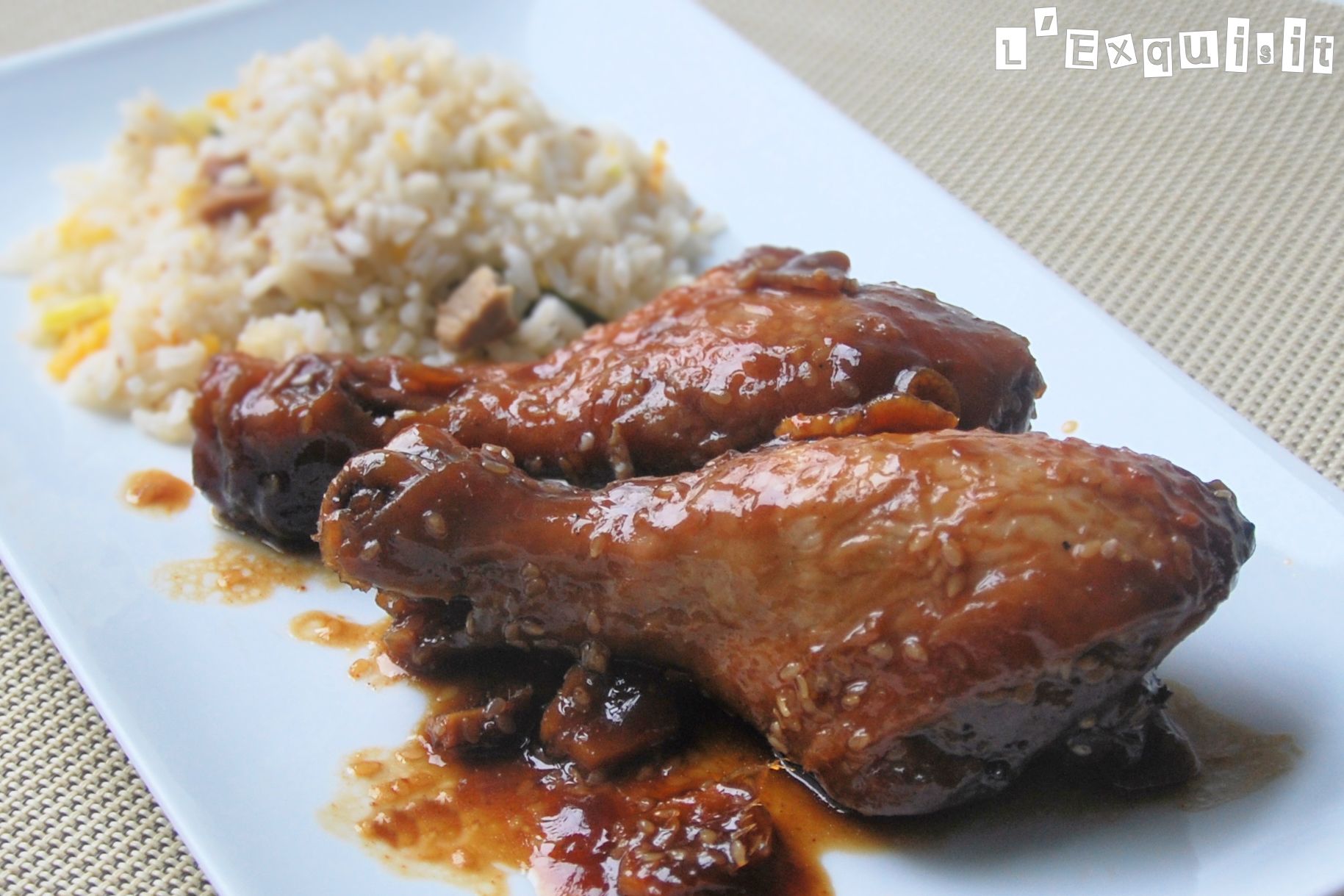 Pollo marinado en jengibre y sésamo - L´Exquisit