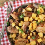Pollo asado con ajos y perejil
