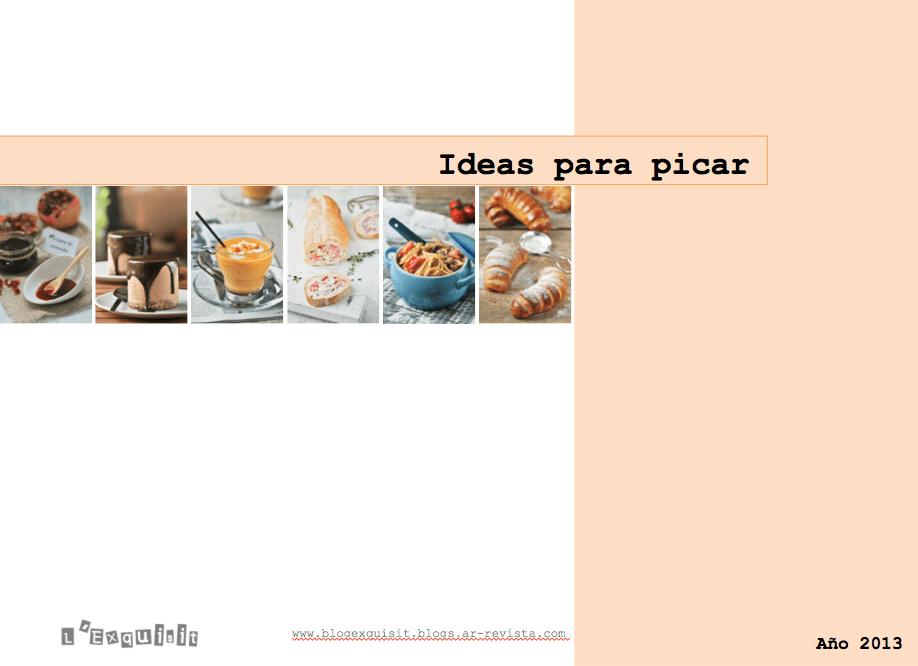 Recetas de aperitivos 2013