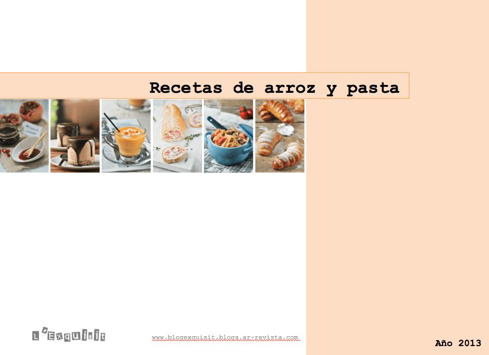 Recetas arroz y pasta 2013