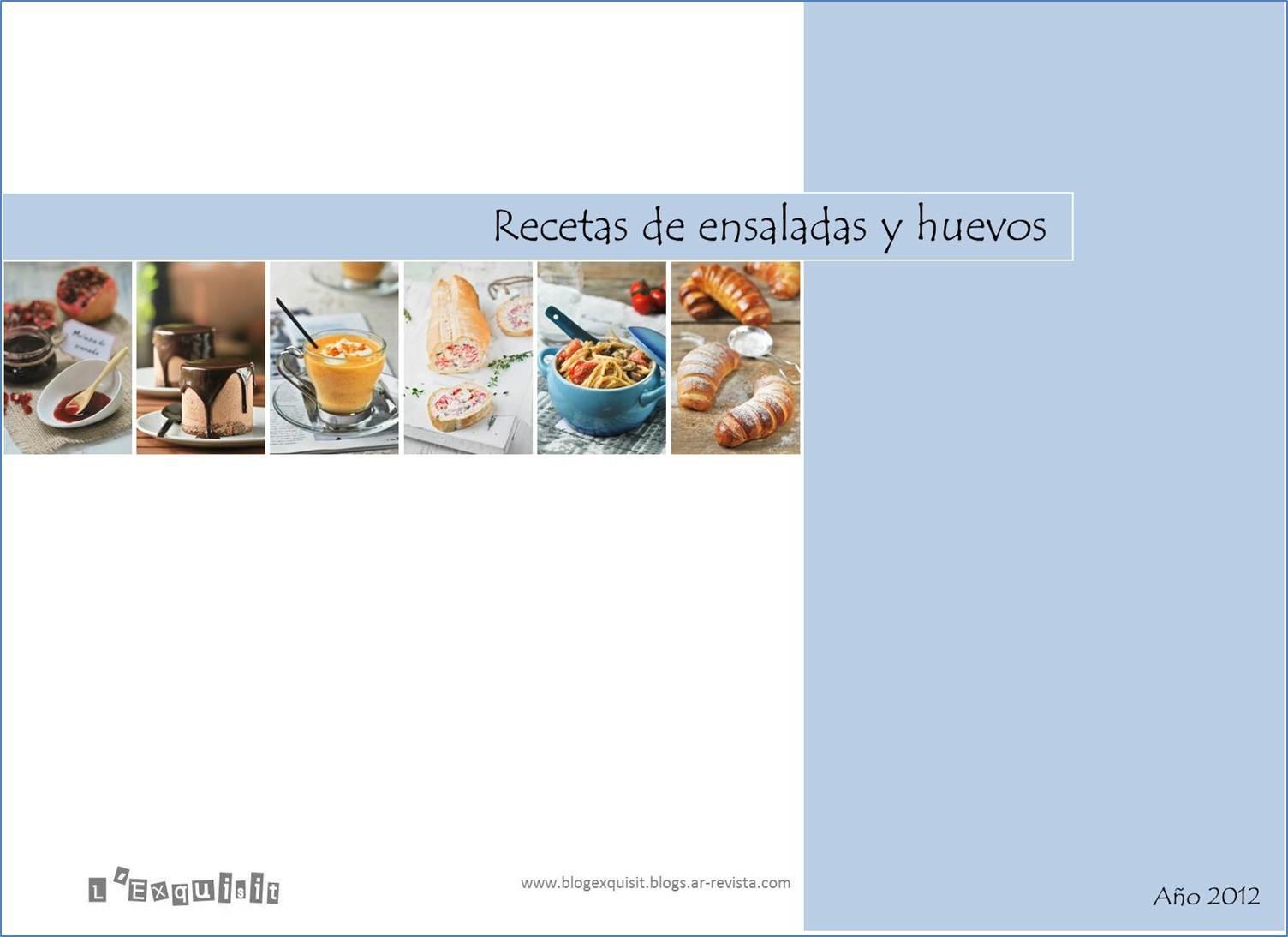 Recetario ensaladas y huevos (2012)