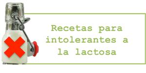 Recetas para intolerantes a la lactosa