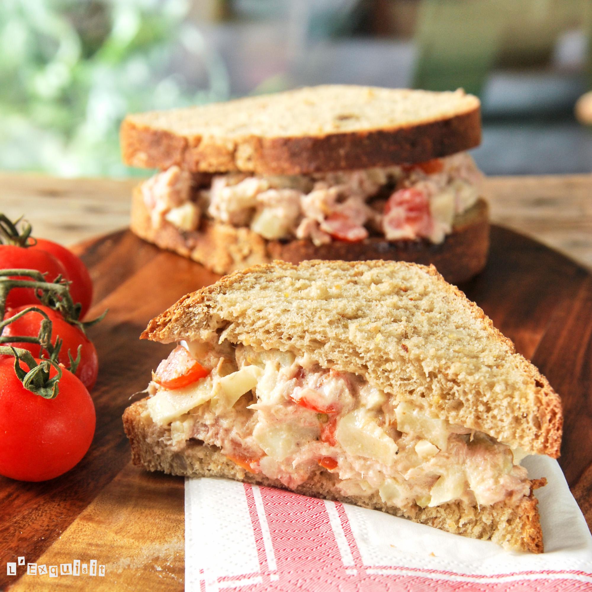 Sandwich de atun y alcachofas - L´Exquisit