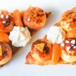 Pastel Saint Honoré con crema de mandarinas