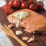 Salmon con salsa de mostaza