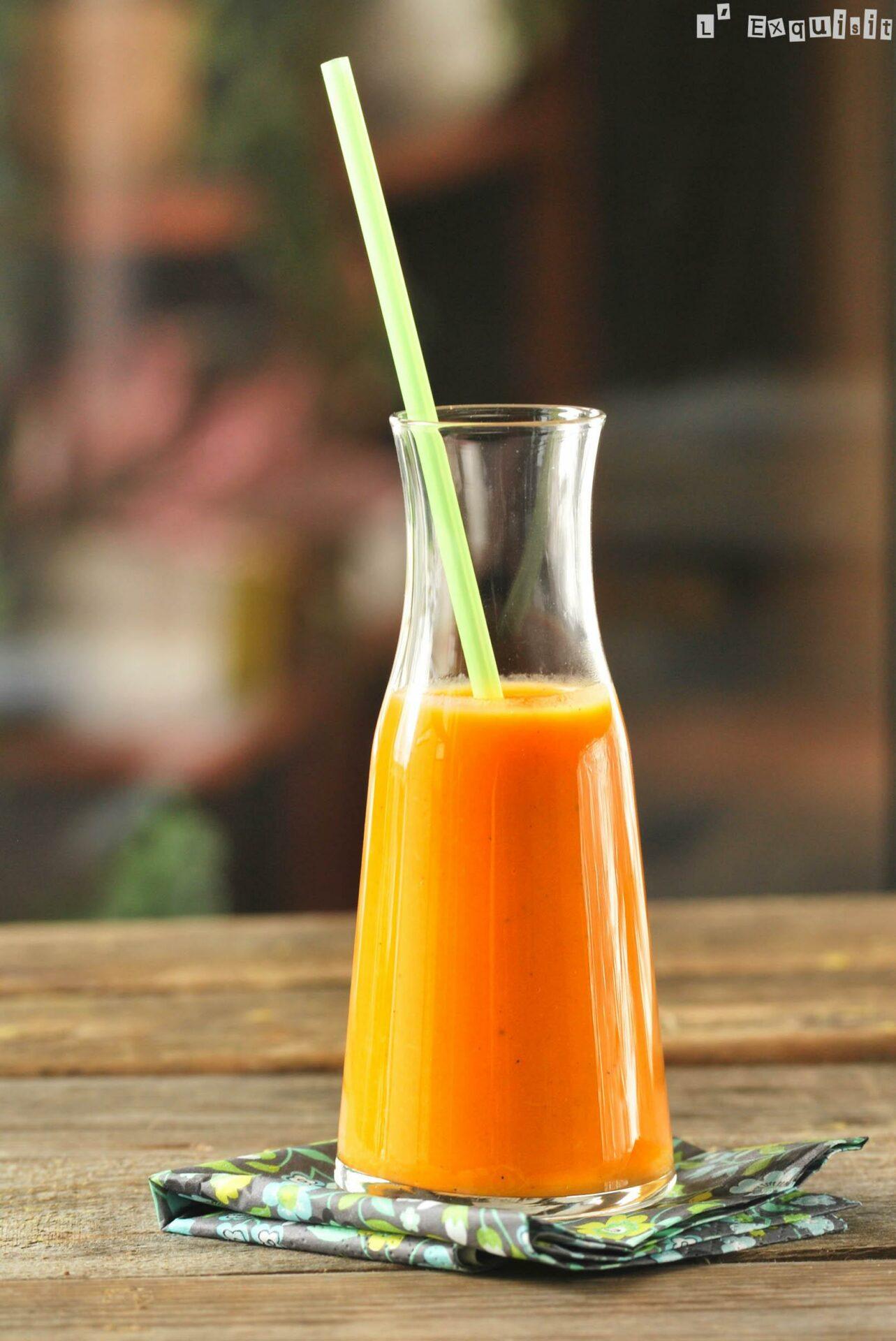 Sopa fria de boniatos y naranja